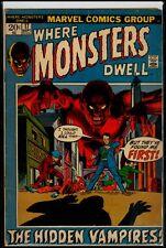 Marvel Comics Where MONSTERS Dwell #17 The Hidden Vampires VG 4.0