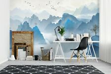 New Listing3D Blue Mountain Zhua8165 Wallpaper Wall Murals Removable Self-adhesive Amy