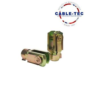2 X M10 SHORT CLEVIS & SPRING CLIP   Cable Tec
