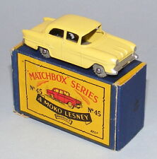 MATCHBOX #45a VAUXHALL VICTOR WITHOUT WINDOWS + METAL WHEELS NEAR MINT BOXED
