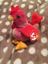 New listing Ty Beanie Baby Beanies Babies Strut Chicken Cockerel Bird Retired Tags Tush Gc