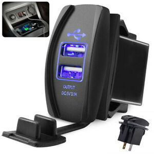 12-24V 3.1A Car Fast Power Supply Charger For Mobile Phone Tablet PC MP3 Travel