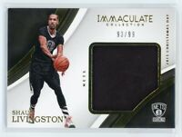 2016-17 SHAUN LIVINGSTON 93/99 JERSEY PANINI IMMACULATE COLLECTION