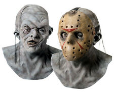 Halloween Costume FRIDAY THE 13TH JASON LATEX DELUXE DOUBLE MASK Haunted House