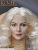 KUMIK White Hair Female Head Sculpt KM18-44 1/6 scale Action Figure Head
