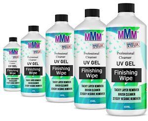 UV Nail Gel Finishing Wip,  Sticky Residue Remover,  Cleanser,  Brush Cleaner UK