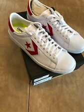 83d7cc8be773 NIB NEW women s Converse pro leather ox low top sneakers white casino red  10.5