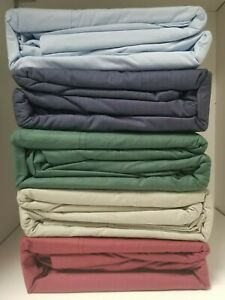 50/50 Poly Cotton Percale Waterbed Sheet set - Attached Free Poles all sizes