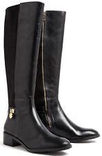 $285 MICHAEL KORS HAMILTON Blk 50/50 Leather Knee-High w/Lycra Stretch Boot 11