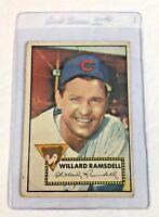 1952 Topps #114 Willard Ramsdell Chicago Cubs Baseball Card
