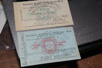 1925 And 1926 Ancient Accepted Scottish Rite Membership Cards Fort Wayne Indiana