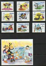 "Grenada - ""1984 Olympics"" - Scott #'s 1185a-94a - Disney Topical - Unused"
