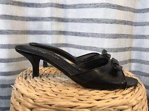 LOUIS VUITTON Cuir Mules Sandales  Escarpins  taille 39,5 39 1/2