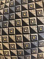 Colours Alexander Julian Mens NeckTie Blue  Geometric Abstract Silk Handmade