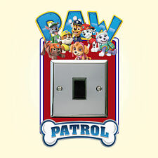 Paw Patrol Light Switch Surround Wall Sticker Plug Girls Boys Cover Decal