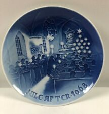 "1968 Bing and Grondahl B & G Christmas Plate ""Christmas in Church"""