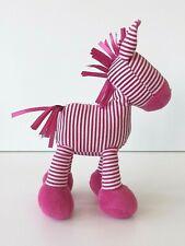Jelly Cat / Kitten - Skiddle Pony Rattle - Soft Pink & White Beanie Stripe Horse