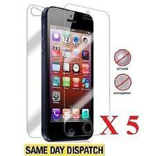 5 X Frontal + Trasera Apple Iphone 5 5s antirreflejo Protectores De Pantalla Mate cubierta Película
