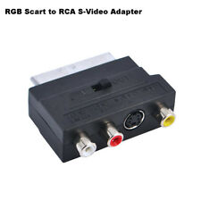 RGB Scart to Composite 3 RCA S-Video AV TV Audio Video Adapter Connector Useful