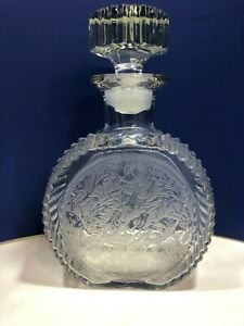 Vintage Paden City #215 Glades Decanter with Spring Orchard Clear Etch #545