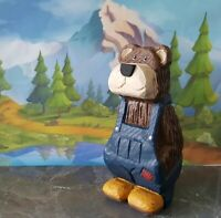 Hand Carved And Hand Painted Wooden Bear