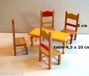 salle a manger vintage en bois miniature,maison de poupée,vitrine, meuble B3
