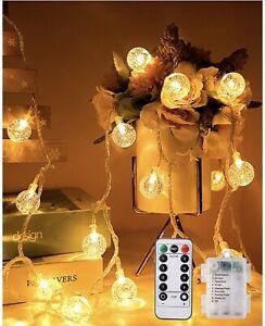 Catena Luminosa TOPYIYI, 10M 80 LED Stringa luci LED Impermeabile catena