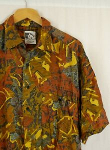 Vintage 80's 90's Crazy Print Fresh Prince Cosby Shirt Large