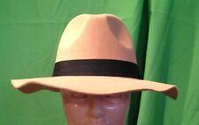 Cappello Falda Borsalino Bogart Beige 100% Polyestere Made in Italy Taglia  57 23a59f3cebba