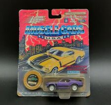 MOC Johnny Lightning Muscle Cars USA Diecast Purple 1970 Boss 302 Mustang