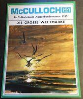 PRINTED GERMAN VINTAGE 1965 McCULLOCH OUTBOARD MOTOR SALES BROCHURE 16 PG  (305)