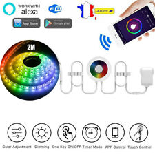 RGB Multicolore Led Flexible Bande Lumineuse Wifi App Alexa Google Home Contrôle