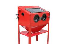 Zandstraalcabine, professioneel zandstraaltoestel met moffen 220 liter met Acces