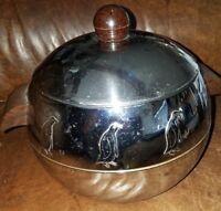 Vintage West Bend Penguin Hot & Cold Server Ice Bucket - Bakelite Handles