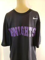 Nike Drifit Men's Shirt Size Medium Black with Purple Knights