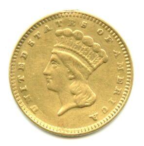 Type 3 Gold Dollar Engraved Token