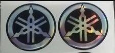 Coppia stemmi stemma diapason Adesivo Logo YAMAHA resinato Sticker Diametro 35mm