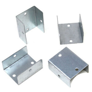 FENCE PANEL CLIPS GALVANISED FENCE POST BRACKETS DECKING - 32mm 38mm 44mm 50mm