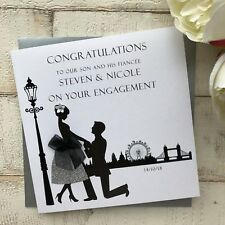 Handmade Personalised Engagement Card Son Daughter Sister Brother Best Friend