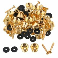 40 x Gold Strap Lock for Electric Acoustic Guitar Bass