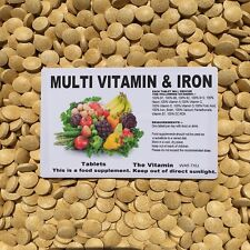 Multivitamins & Iron 60 tablets ~ One per day                             (L)