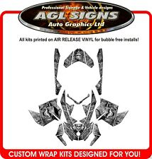 SKULL SLED WRAP  for SKI-DOO XP 2008-12   mxz  summit  renegade  decal