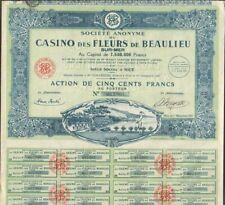 RARE & DECO => CASINO DES FLEURS (BEAULIEU S/MER NICE) (X)