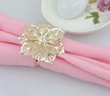 12pcs/Set Napkin Rings Handmade Napkin Holder for Wedding Banquet Dinner Decor