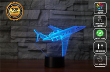 Airplane Jet Kit 3D Night Lamp Acrylic LED 7 Colour Touch Table Desk Light Gift
