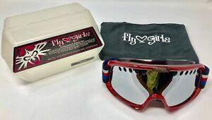 NEW Women's Black Flys Fly Girls Red Rose Trooper Ski Snowboard Snow Goggles