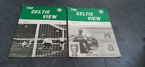 Celtic football memorabilia 2 Celtic Views 1968