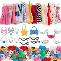 Set 37 Pcs Clothes Accessories For Barbie Doll Party Dress Outfit Glasses Shoes