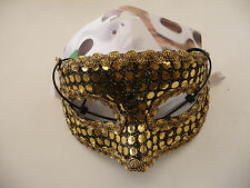 Masquerade Mask - Gold dots and Gold Braid