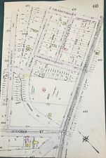ORIGINAL 1912 G.W. BROMLEY, CONSOLIDATED GAS CO.,INWOOD, MANHATTAN, NY ATLAS MAP